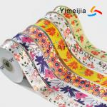Flowers printed gift package satin ribbon