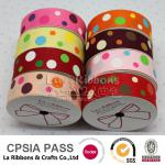 Wholesale polka dot ribbon retail spool dot ribbon