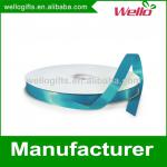 3/8 inch vivid blue China wholesale high quality single face box wrap decorative polyester satin ribbon