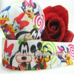 newest 7/8'' popular print ribbon animal print grosgrain ribbon cartoon mouse
