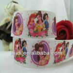 1'' grosgrain ribbon wholesale princess print custom printed grosgrain ribbon