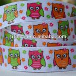 "TR-ribbon Best seller new design 7/8"" Owl 100% polyester printed grosgrain ribbon"