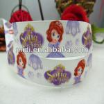 "Wholesale 100%polyester printed grosgrain ribbon 7/8"" Pincess Sophia"
