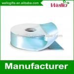 1 inch light blue China wholesale high quality double face box packaging decorative polyester satin ribbon