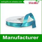 7/8 inch light blue China wholesale high quality double face box packaging decorative polyester satin ribbon