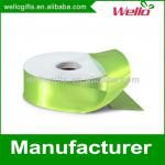 1 inch light green China wholesale high quality single face box packaging decorative polyester satin ribbon
