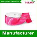 1 inch fuchsia China wholesale high quality single faced box packaging decorative polyester satin ribbon