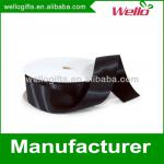 1 inch black China wholesale high quality single faced box packaging decorative polyester satin ribbon