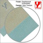 Colorful embossed paper of diferent textures