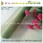 wholesale nylon organza roll 100% nylon organza roll