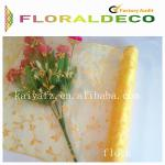 Flocking Organza Flower Wrapping
