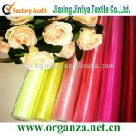 Crystal organza fabric roll for wedding decoration,flower packing