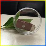 Round shape clear color U-disk Packaging box