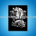 Engraving Art scratch art animals magic paper
