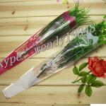 Flower sleeve for single rose,plastic flower sleeves