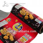 Puffed food packaging material roll film for packing