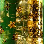 Gold flower lamination film PVC use for tablecloth