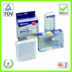 folding plastic clear boxes and packaging for accessories