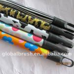 #22P broom stick plastic coated with different design