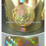 Holographic hot stamping foil for paper, film