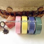 2013 Fashion Decorative Self Adhesive lattice Fabric Tape(GD-TF041)