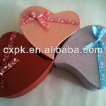 2014 hot sale, new style heart shape gift box,wedding theme