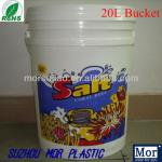 5 Gallon 20L virgin PP plastic round bucket for paint with easy pull lid and handle