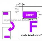 A4 integrated label