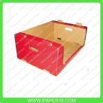 Cardboard display stackable shipper storage