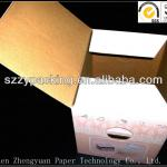 corrugated paper box for outer packaging