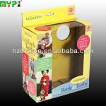 corrugated paper gift packing box with hang hole
