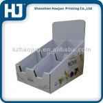 Counter Corrugated paper display box for promotion