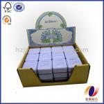 Customized corrugated soap display box