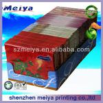 Customized printing spray portable carton paper cardboard packaging box for biscuit/tea