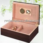 Eco friendly wooden cigar packaging box with humidor,cigar outer box