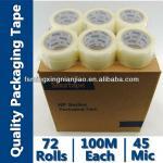 Guandong transparent Bopp adhesive packaging tapes