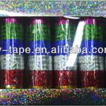 Holographic adhesive Christmas decoration bopp laser tape