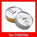money bank can, disposable tin money box;cash bank box