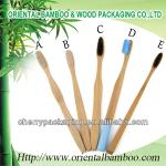 Natural eco-friendly craft bamboo toothbrush any color brush