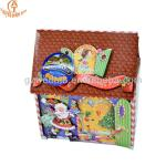 New custom Christmas house shape candy decorate storage paper packaging box
