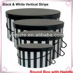Paper black square round box, food grade cardboard box. black cardboard shoe box, cardboard hat box