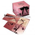 Paper Folding Gift Box with PVC window&Ribbon Closure