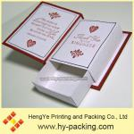 Red book style drawer gift box packing and design