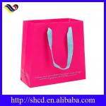 white blank paper bags with paper handle