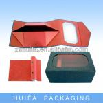 Luxury custom foldable tie boxes for sale with clear window
