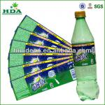 adhesive beverage labels for plastic bottles