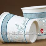 8 OZ HEAVY CERAMIC WHITE PAPER TO GO COFFEE TEA MUG CUP